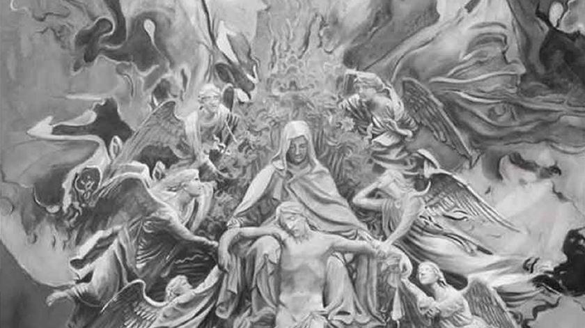 Detalhe da exposição Pietá, de Santiago Belacqua. Foto: DR