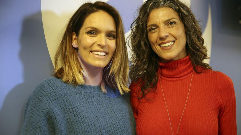 Diana Chaves com a locutora Sónia Santos
