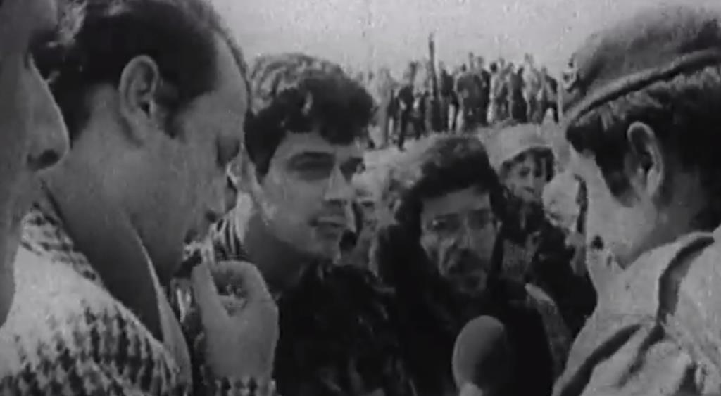 Coronel Diniz de Almeida, durante a tentativa de golpe do 11 de março de 1975. Foto: Arquivo RTP