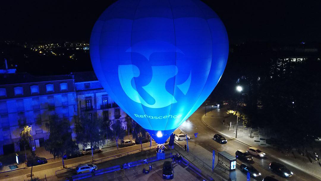 Balão de Ar Quente Renascença no Largo Amor de Perdição, Porto Foto:RR