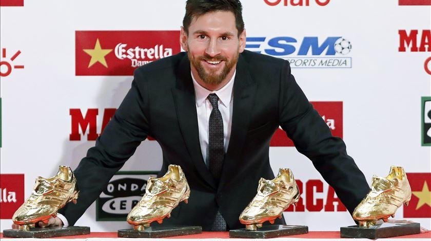 Messi virtualmente eleito Bota de Ouro pela sexta vez na carreira
