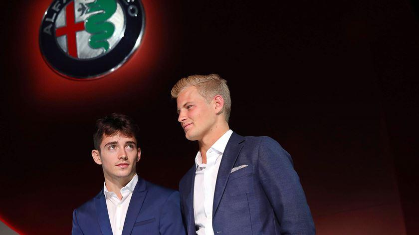Charles Leclerc e Marcus Ericsson. Foto: Matteo Bazzi/EPA