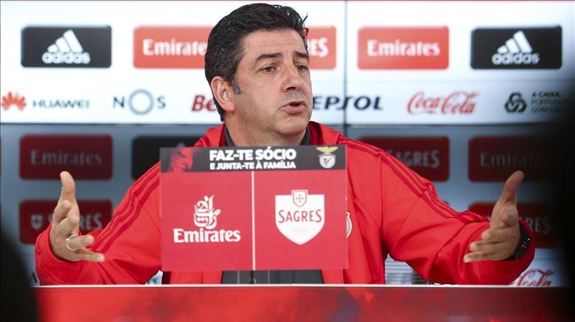 """Saltou a tampa"" a Rui Vitória a propósito do alegadamente viciado Rio Ave-Benfica. Foto: Manuel de Almeida/Lusa"