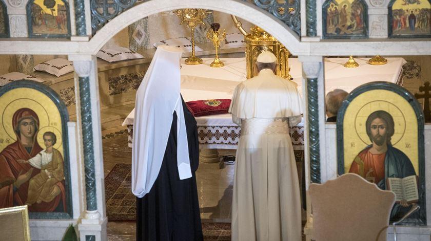 Papa encontra-se com comunidade ucraniana e apela à paz