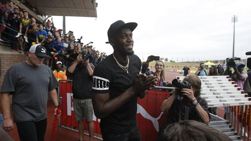 Do tartan para o relvado: Usain Bolt aponta ao futebol