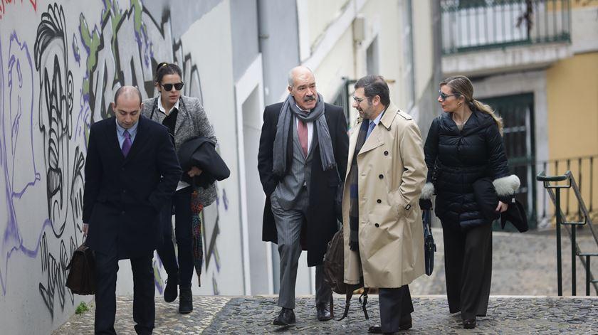 O advogado de Rui Rangel, João Nabais, e o advogado de Fátima Galante, Paulo de Sá e Cunha, à chegado ao Supremo Tribunal de Justiça. Foto: Mário Cruz/Lusa