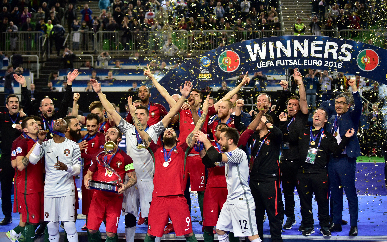 Portugal campeão da Europa de futsal. Foto  Igor Kupljenik EPA a2fa06c334bb9