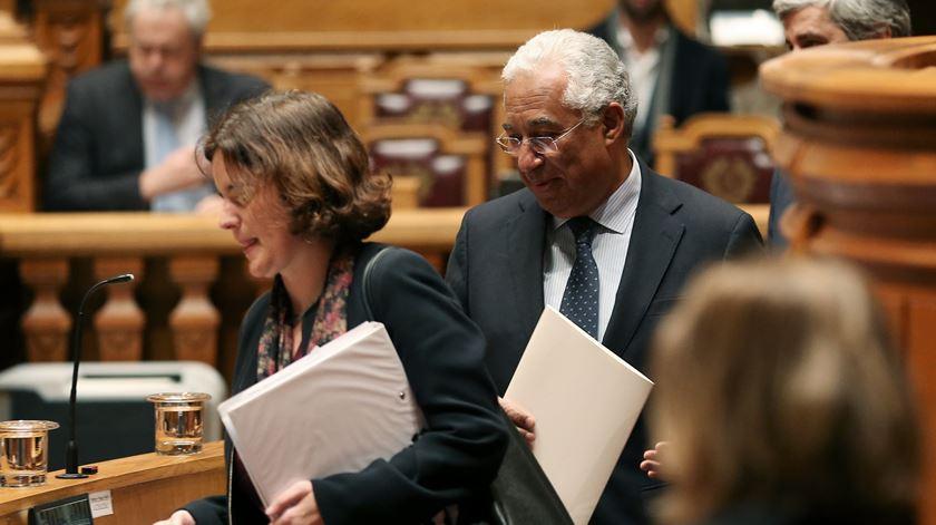 António Costa à chegada para o debate quinzenal. Foto: Manuel de Almeida/Lusa