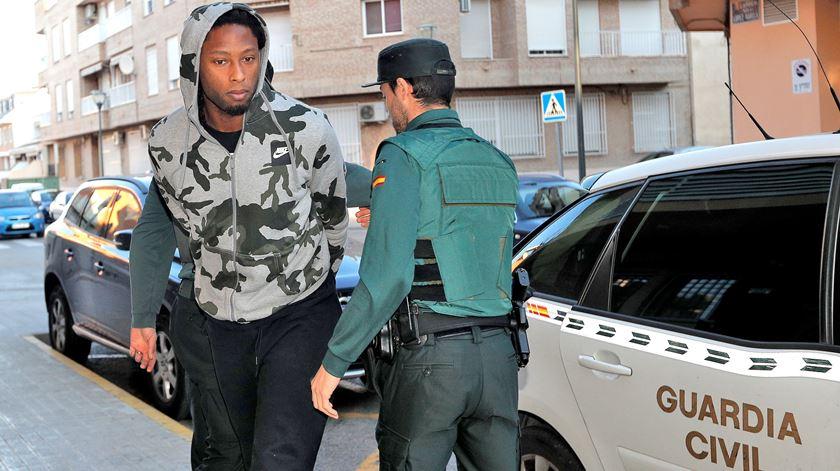 Rúben Semedo foi detido, em Espanha, a 19 de fevereiro. Foto: Manuel Bruque/EPA