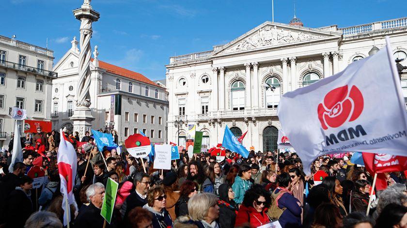 Marcha pela igualdade das mulheres em Lisboa. Foto: António Pedro Santos/Lusa
