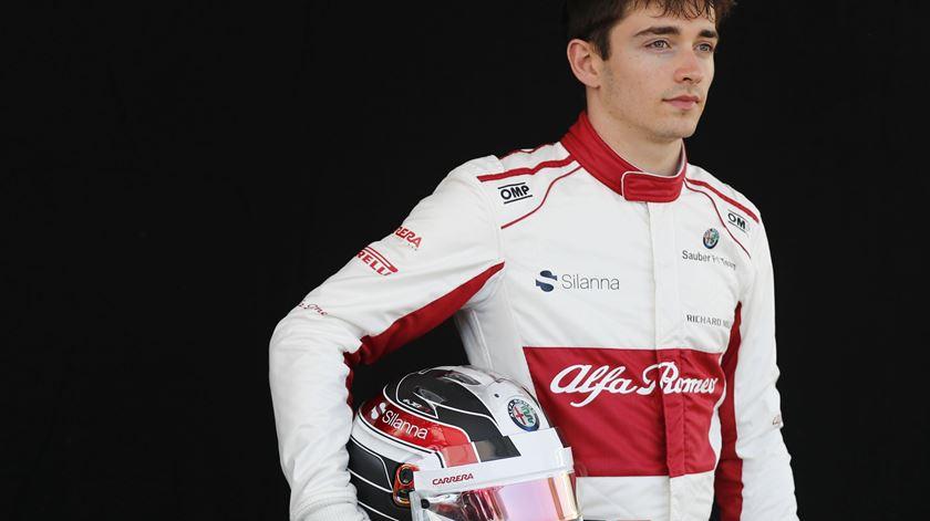 Leclerc estreou-se pela Sauber na Fórmula 1, em 2018. Foto: David Acree/EPA
