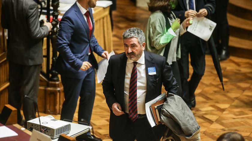 Joaquim Evangelista esteve na conferência parlamentar sobre violência no desporto. Foto: Mário Cruz/Lusa