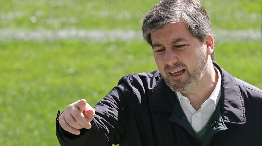 Bruno de Carvalho criticou os jogadores, após a derrota em Madrid, para a Liga Europa. Foto: Inácio Rosa/Lusa