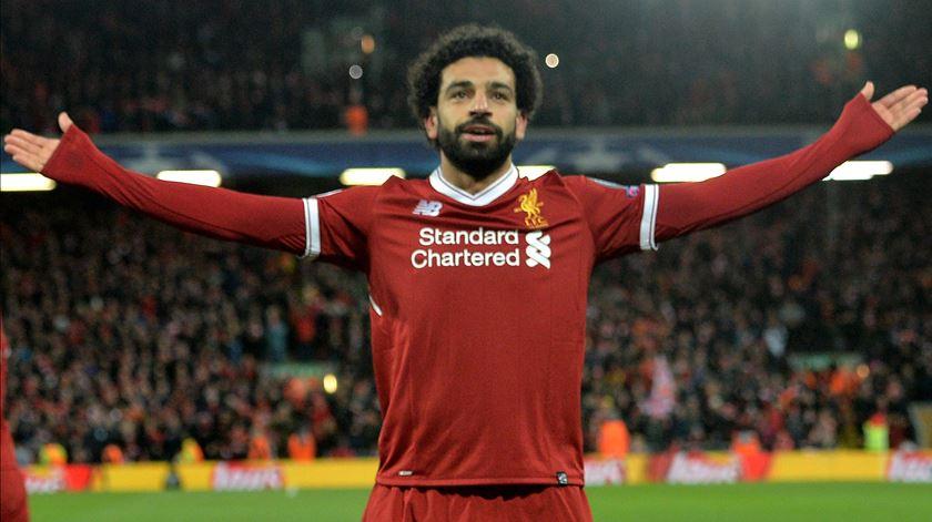 Mohamed Salah volta a brilhar pelo Liverpool. Foto: Peter Powell/EPA