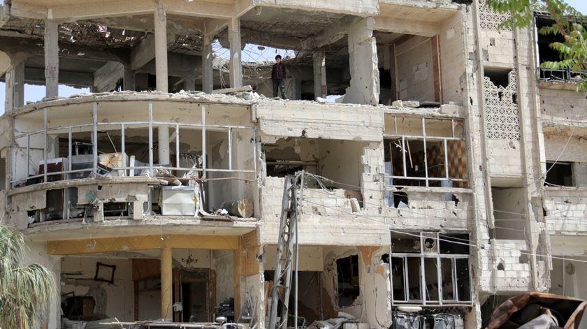 Cidade de Douma. Foto: Youssef Badawi/EPA