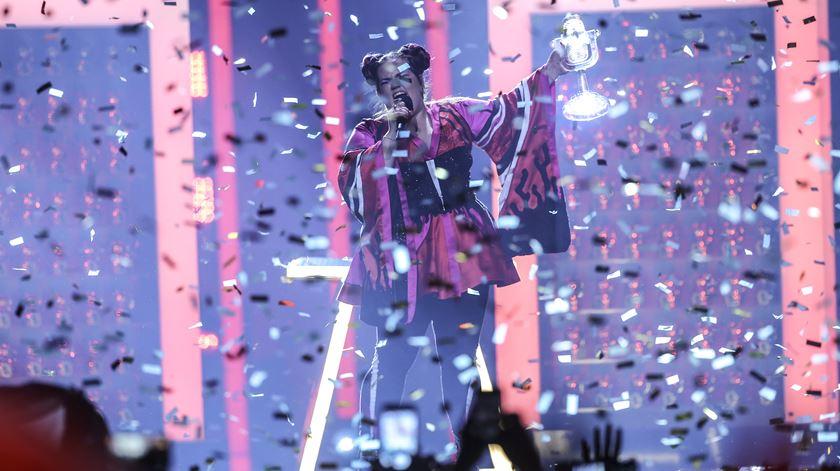 Eurovisão. Israel ganhou. Portugal em último
