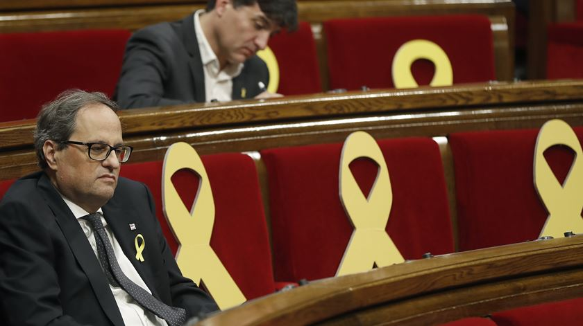 """""""Esta legislatura já não tem futuro"""". Quim Torra antecipa eleições na Catalunha"""