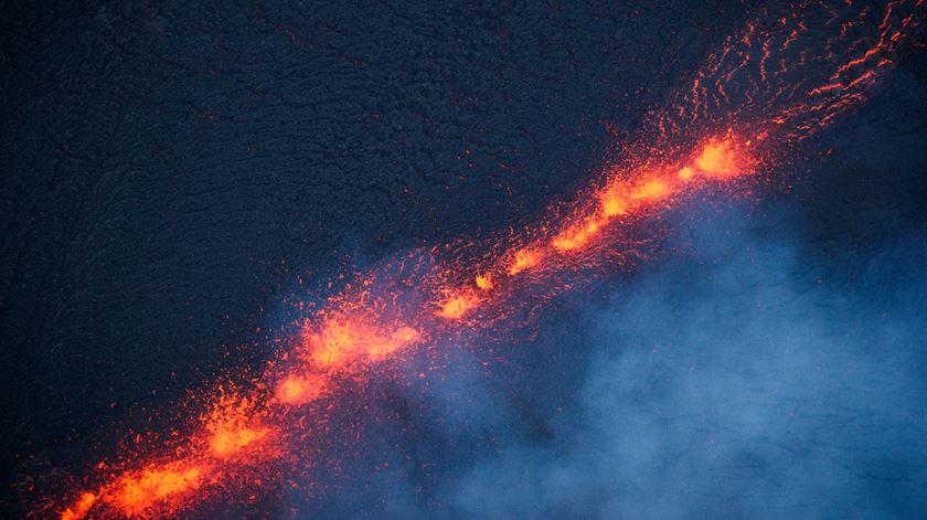 vulcão Kilauea, Havai. Foto: Bruce Omori/EPA