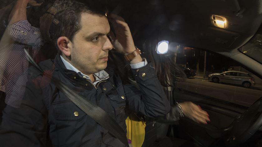 André Geraldes à saída do TIC do Porto. Foto: Rui Farinha/Lusa