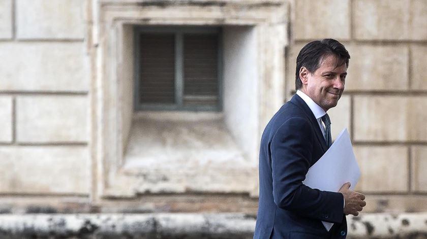 Primeiro-ministro italiano, Giuseppe Conte. Foto: Angelo Carconi/EPA