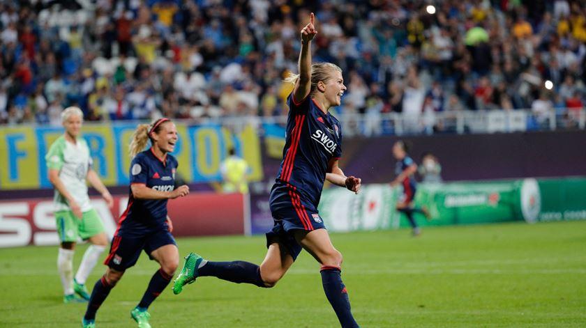 """Champions feminina. Lyon vence primeiro ensaio da final antecipada dos """"quartos"""""""