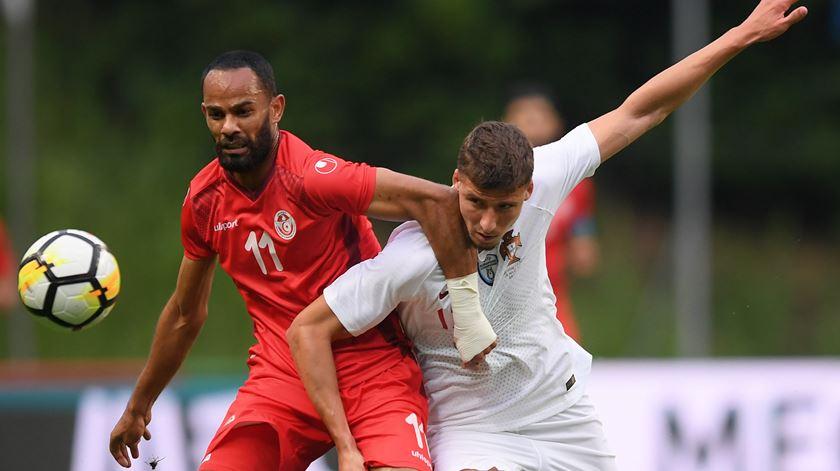 A estreia de Rúben Dias pela seleção nacional foi frente à Tunísia. Foto: Hugo Delgado/Lusa