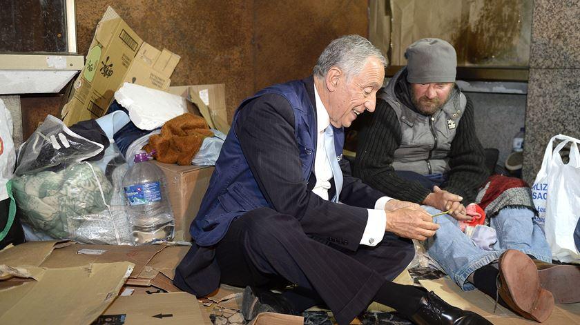 O Presidente da República diz que chegou o momento de combater a pobreza em Portugal. Foto: Fernando Veludo/Lusa