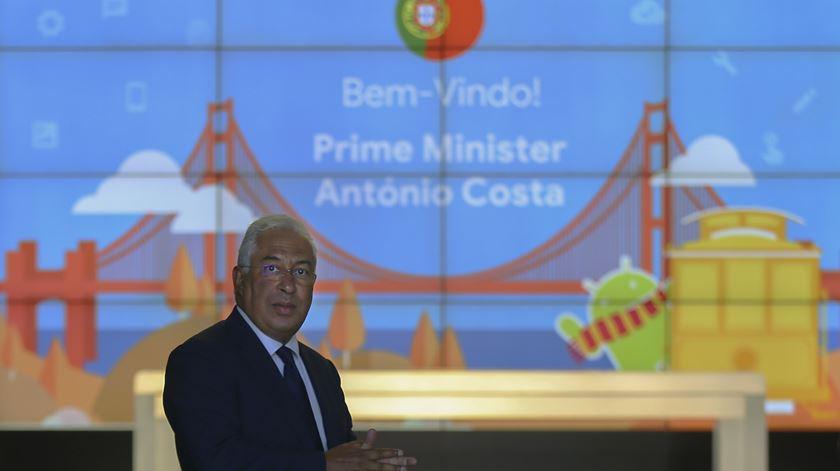 António Costa no final de uma visita à Google, na Califórnia. Foto: Nuno Veiga/ Lusa