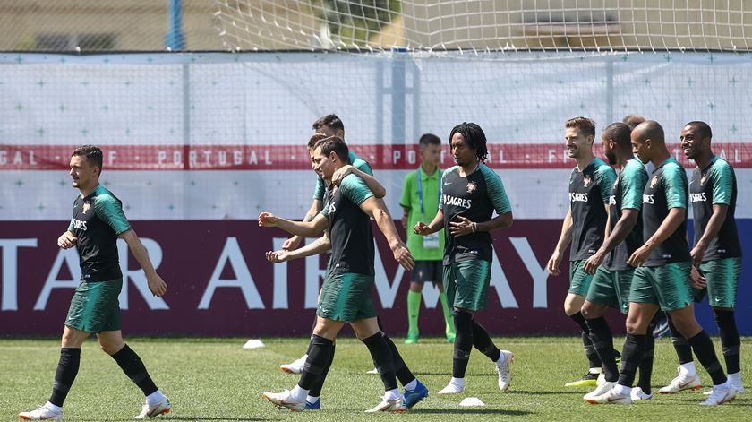 Seleção na máxima força no penúltimo treino em Kratovo
