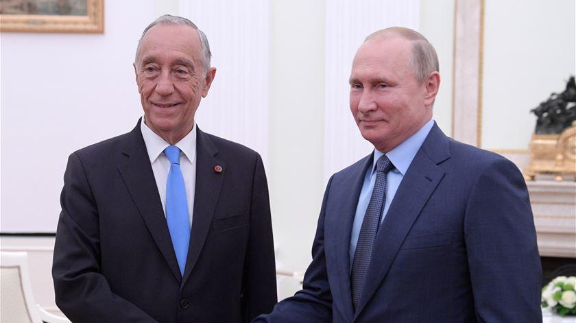 Marcelo e Putin trocam elogios futebolísticos