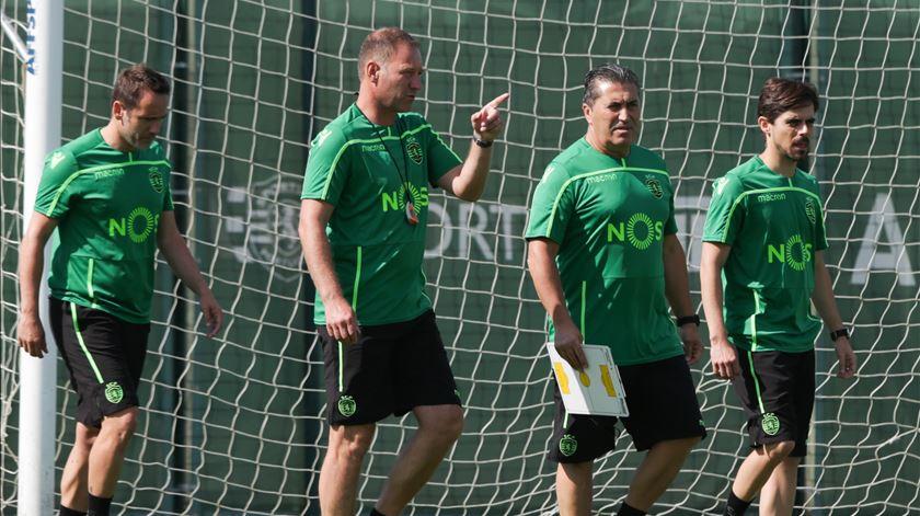 Adjunto Nuno Presume analisou derrota do Sporting. Foto: Tiago Petinga/Lusa