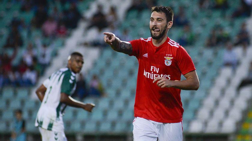 Ferreyra marcou o golo do Benfica. Foto: Rui Minderico/Lusa