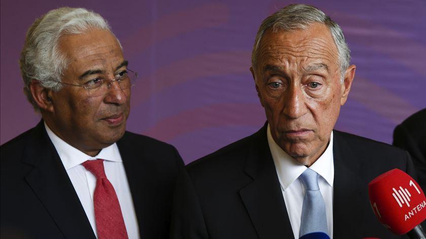 António Costa e Marcelo Rebelo de Sousa na cimeira da CPLP Foto: Tiago Petinga/Lusa