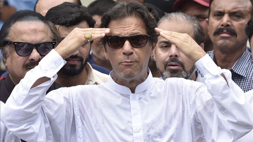 Imran Khan, primeiro-ministro do Paquistão. Foto: EPA