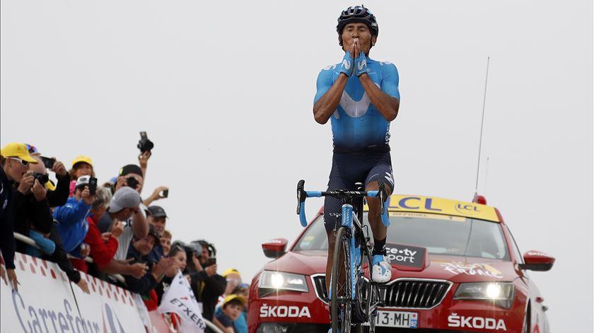 Quintana venceu no Tour, cinco anos depois. Foto: Sebastien Nogier/EPA