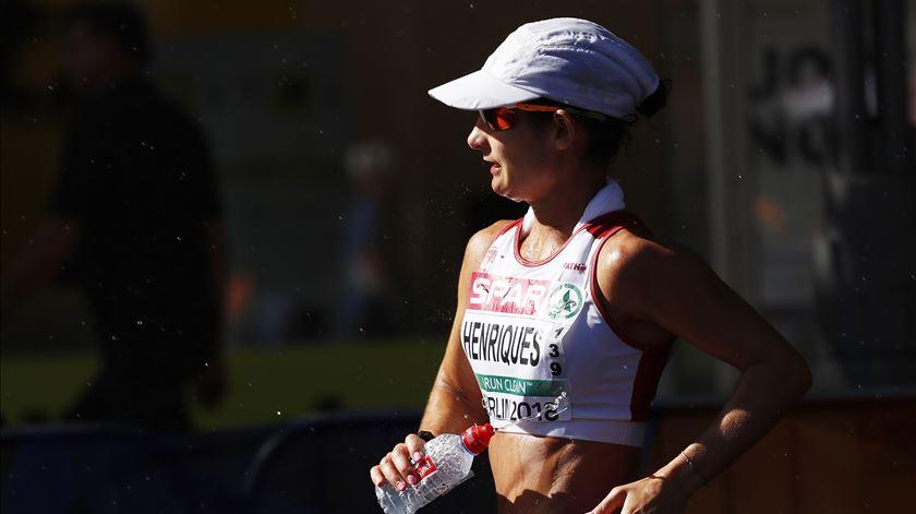 Inês Henriques venceu a prova de 50km marcha, em Berlim. Foto: Felipe Trueba/EPA