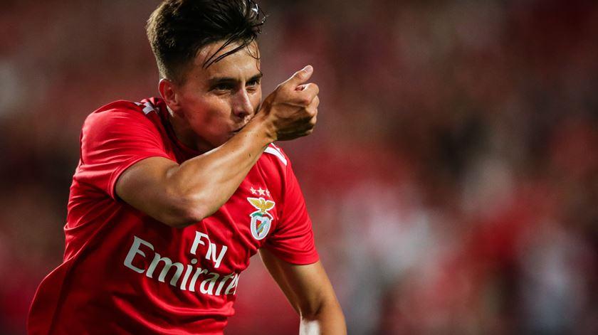 Cervi marca vários pelo Benfica. Foto: Tiago Petinga/Lusa