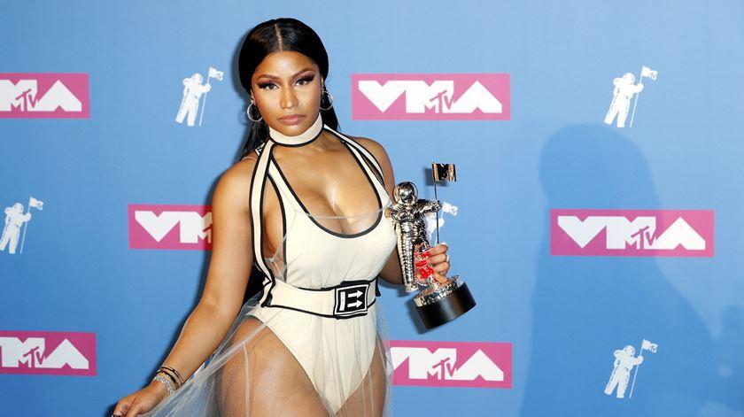Nicki Minaj ganha prémio MTV para Melhor Vídeo Hip Hop em 2018. Foto: Jason Szenes/ EPA