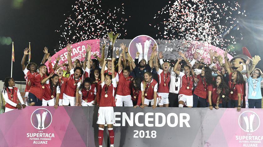 Sp. Braga, futebol feminino, supertaça. Foto: Nuno André Ferreira/Lusa