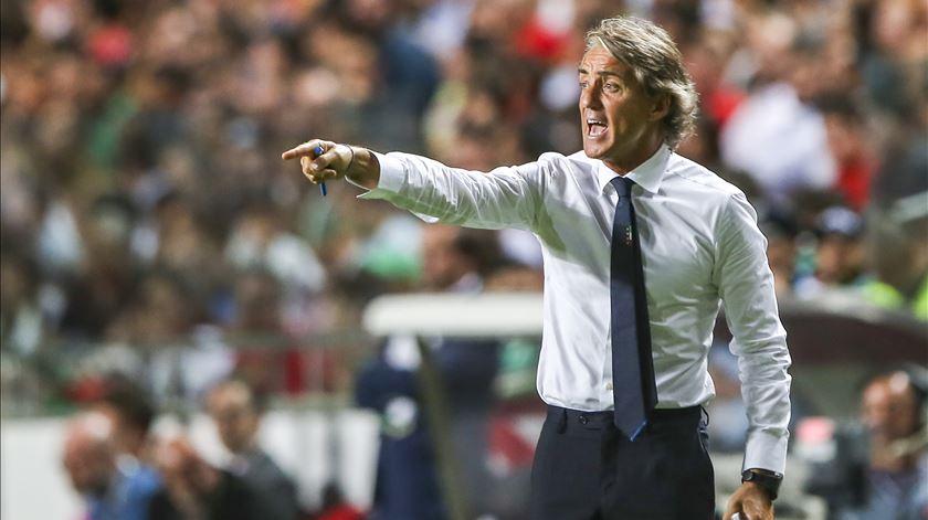 Mancini tenta deslindar o segredo para a Itália derrotar Portugal. Foto: José Sena Goulão/Lusa