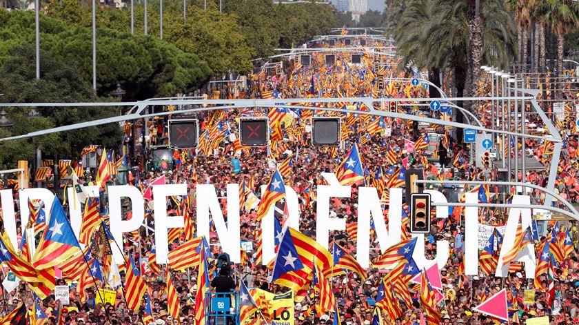 Um milhão nas ruas de Barcelona pela independência da Catalunha