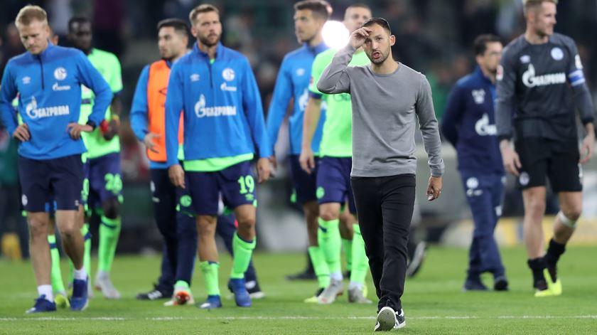 Equipa do Schalke 04 ainda sem vitórias. Foto: Friedemann Vogel/EPA