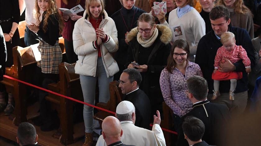 """Papa. Alguns jovens """"sentem a presença da Igreja como algo irritante"""""""