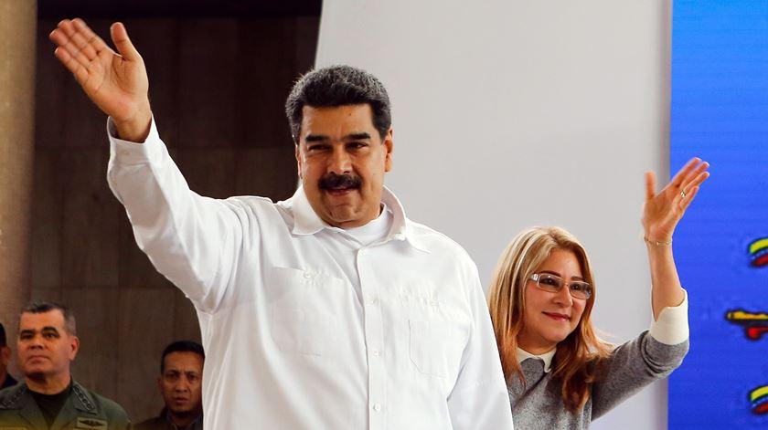 Nicolás Maduro, presidente da Venezuela, e a mulher Cilia Flores. Foto: Presidência da Venezuela