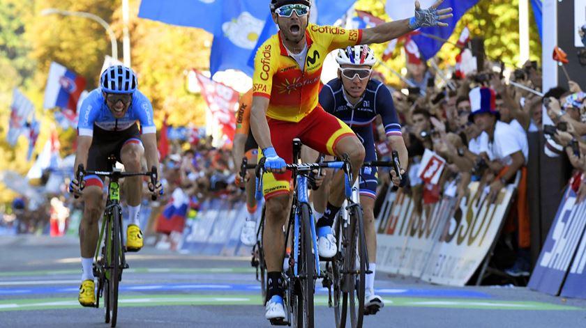 Valverde vence Mundial de ciclismo. Foto: Christian Bruna/EPA