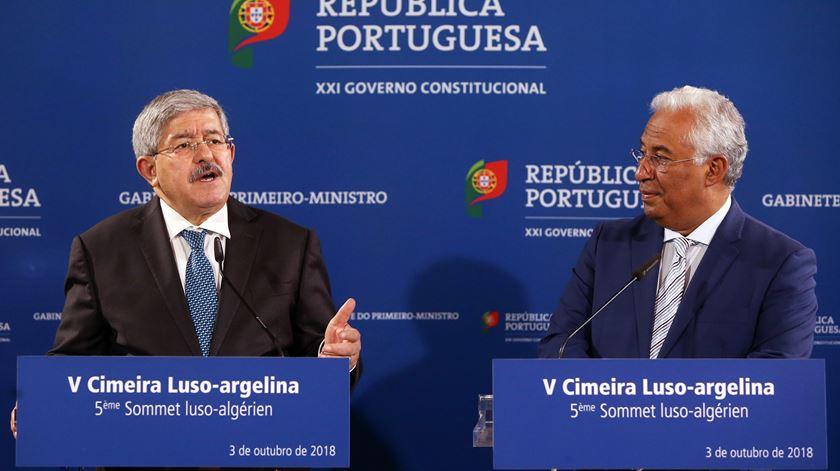 Ahmed Ouyahia e António Costa. Foto: Inácio Rosa/EPA