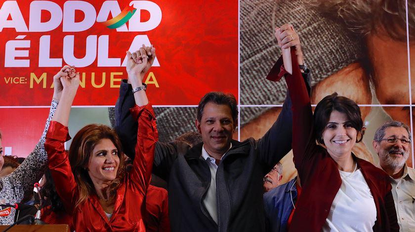 Fernando Haddad conseguiu 26% dos votos brasileiros. Foto: Marcelo Chello/EPA