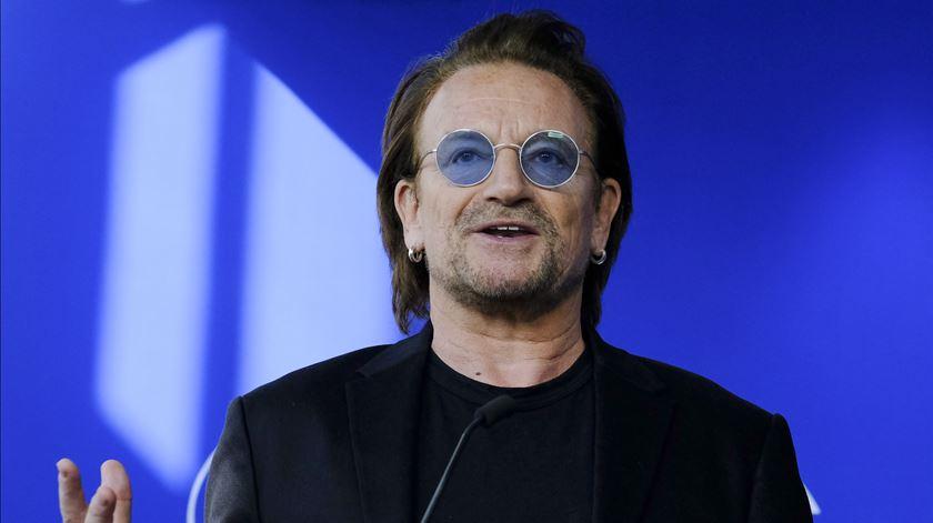 """Bono no Parlamento Europeu. Não cantou, mas defendeu """"internacionalismo"""""""