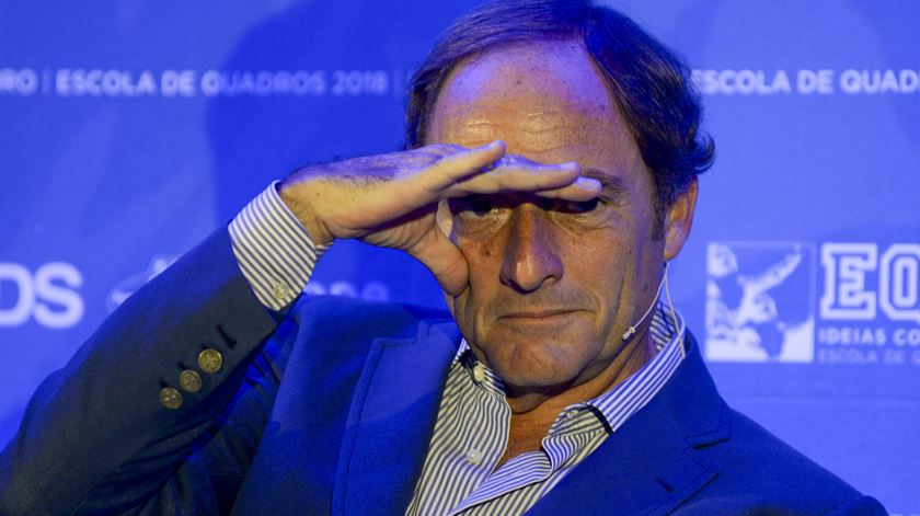 """Paulo Portas no jantar/debate """"Portugal na Europa"""". Foto: Carlos Barroso/Lusa"""