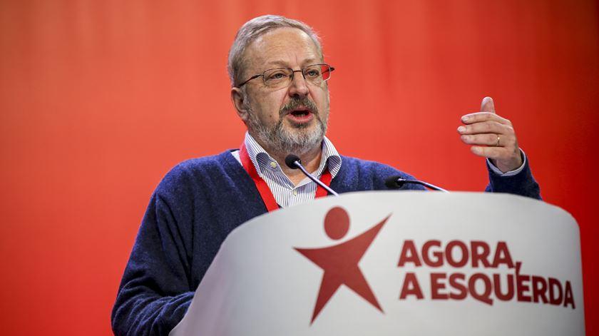 Luís Fazenda, Bloco de Esquerda. Foto: José Sena Goulão/Lusa